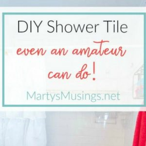 Even an amateur with no experience can create a beautiful bathroom with DIY shower tile using Bondera Tile Mat! Step by step instructions included.