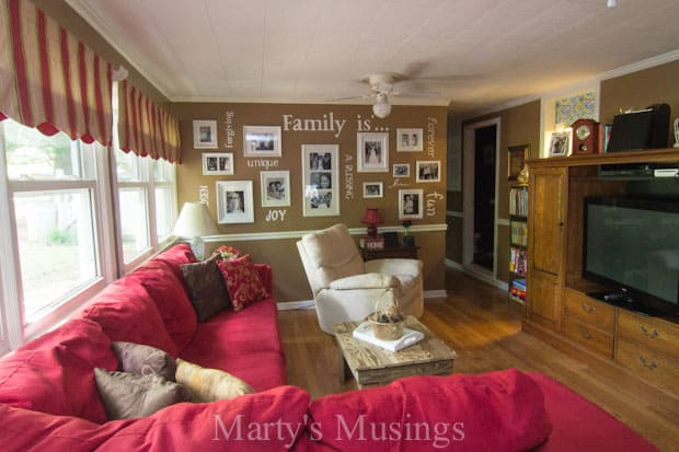Home Tour from Marty's Musings; Den