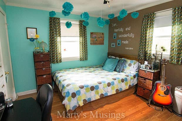 Home Tour from Marty's Musings; Teenage Girl's Room