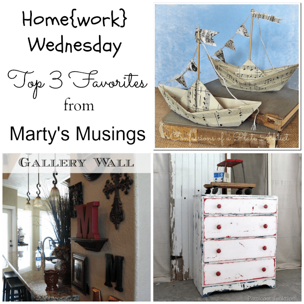 Home{work} Wednesday Link Party #7 Favorites from Marty's Musings