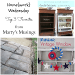 Home{work} Wednesday Link Party #8 Favorites from Marty's Musings
