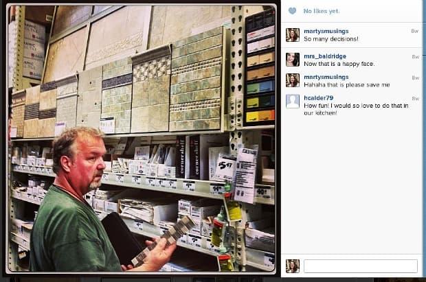 Instagram DIY Shower Tile from Marty's Musings