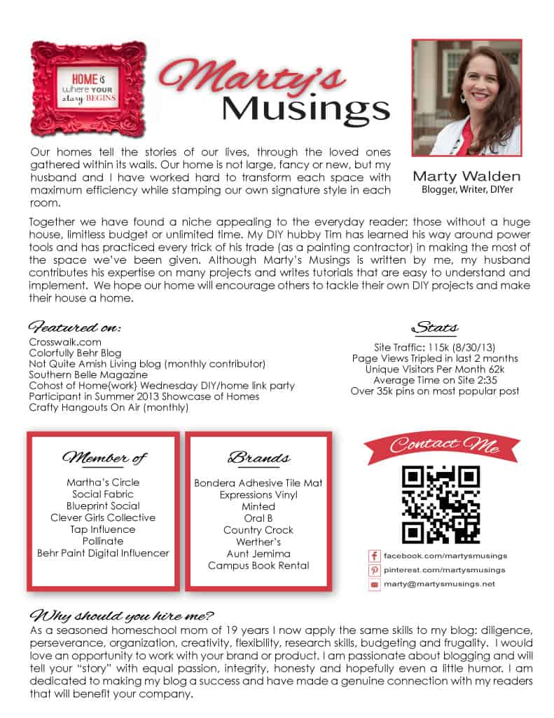 Advertising/PR for Marty's Musings