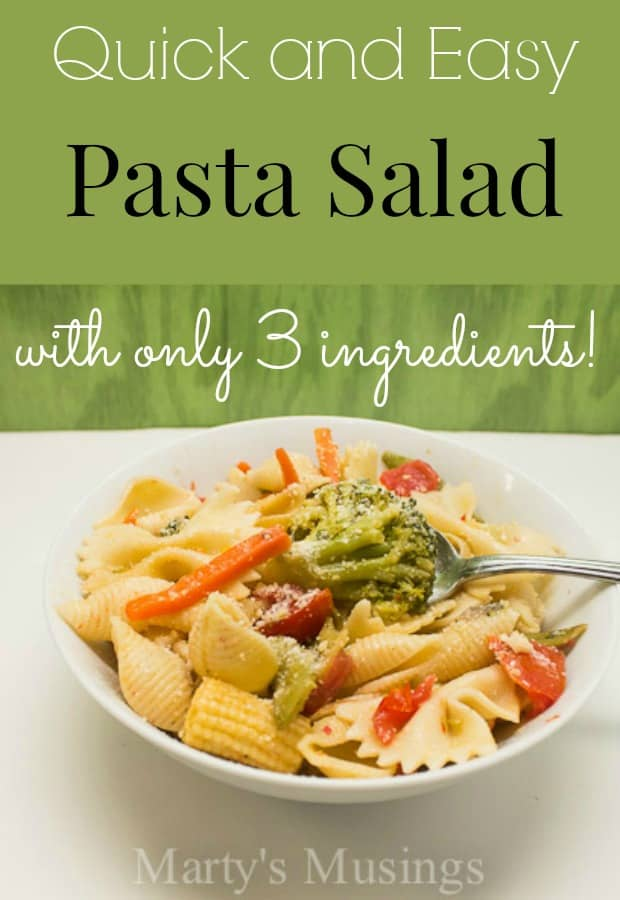 Quick and Easy Pasta Salad - Marty's Musings