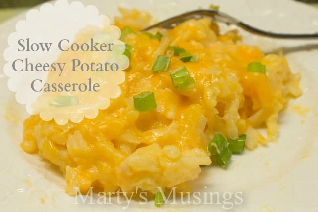 Slow Cooker Cheesy Potato Casserole from Marty's Musings