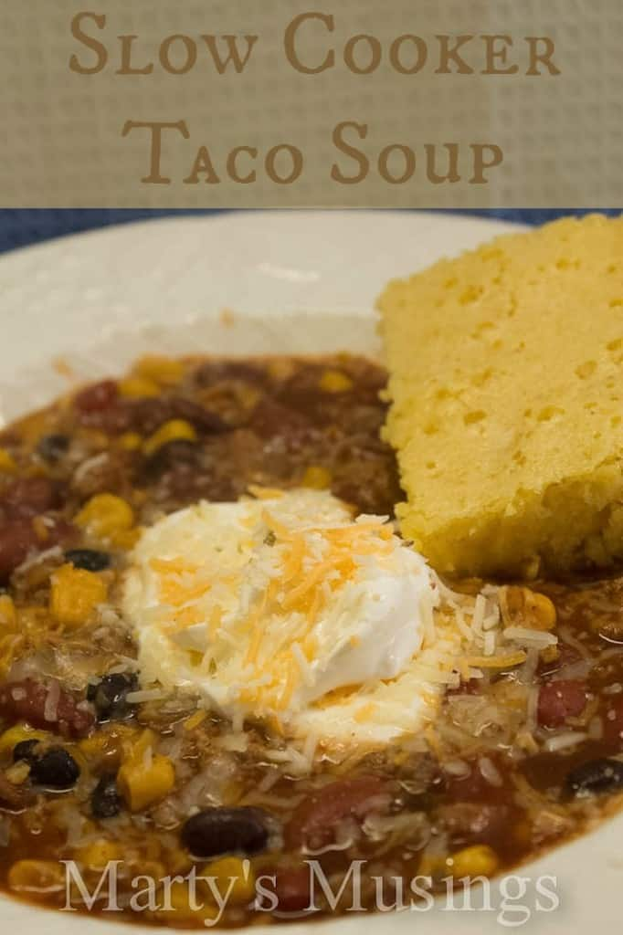 Slow Cooker Taco Soup by Marty's Musings