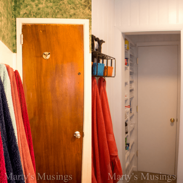 Small Bathroom Remodel Before and After from Marty's Musings