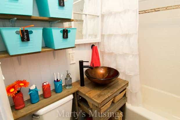 Rustic Small Bathroom Remodel