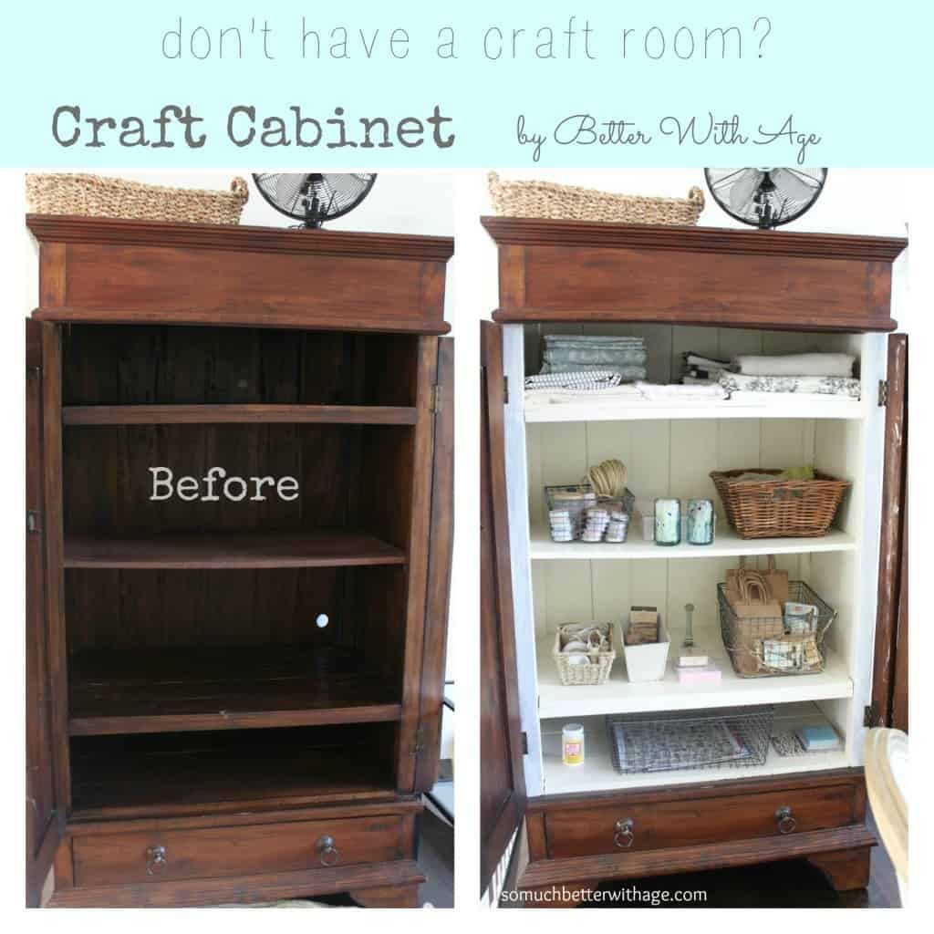 Craft Cabinet Before and After