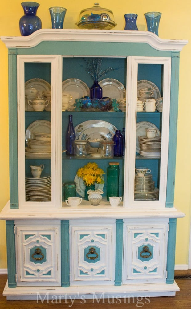 Chalk Painted Hutch - Marty's Musings