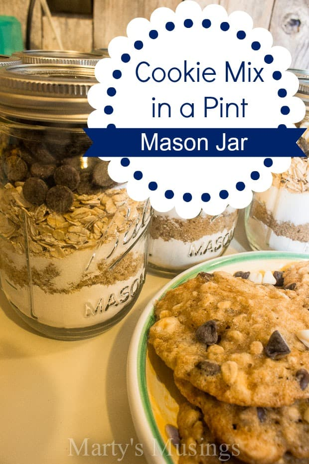 Cookie Mix in a Pint Mason Jar
