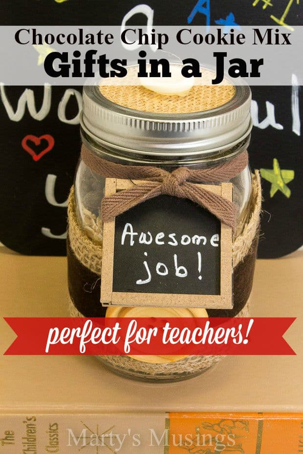 Back To School Teacher Gift Chocolate Chip Cookies In A Jar