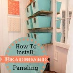 How to Install Beadboard Paneling from Marty's Musings
