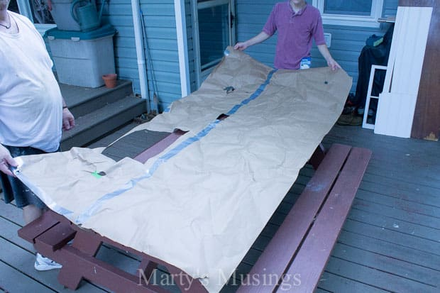 How to Install a Beadboard Wall from Marty's Musings-10