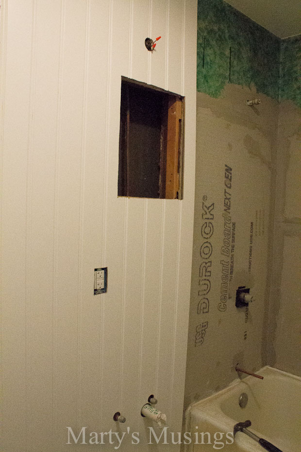 How to Install a Beadboard Wall from Marty's Musings-13