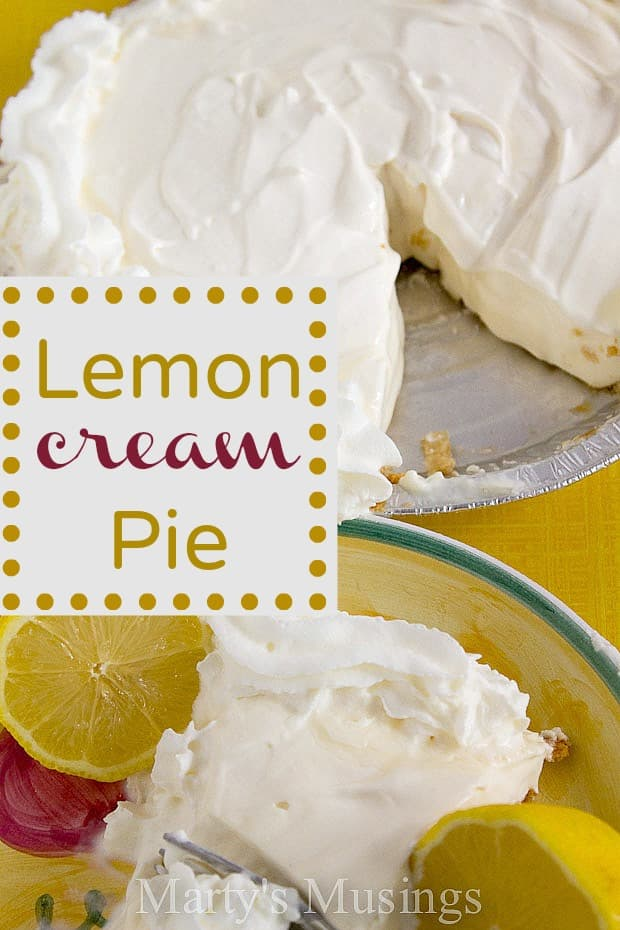 Lemon Cream Pie from Marty's Musings
