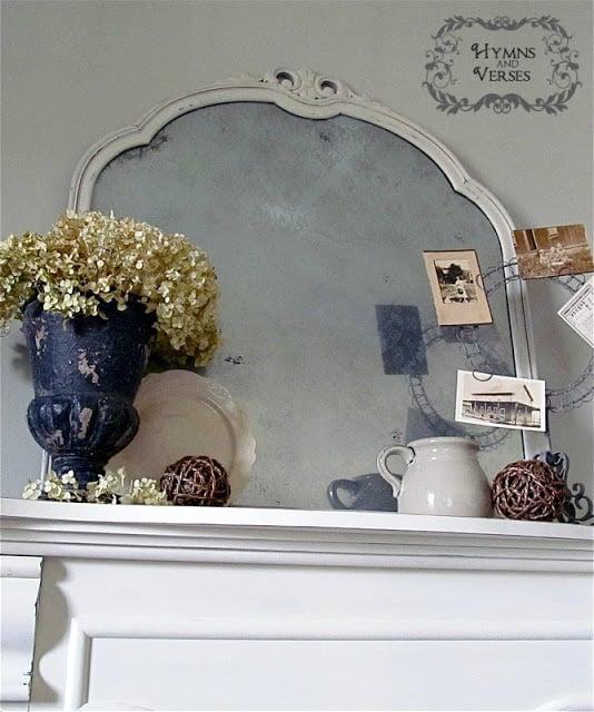 Vintage Lace Mirror Mantel