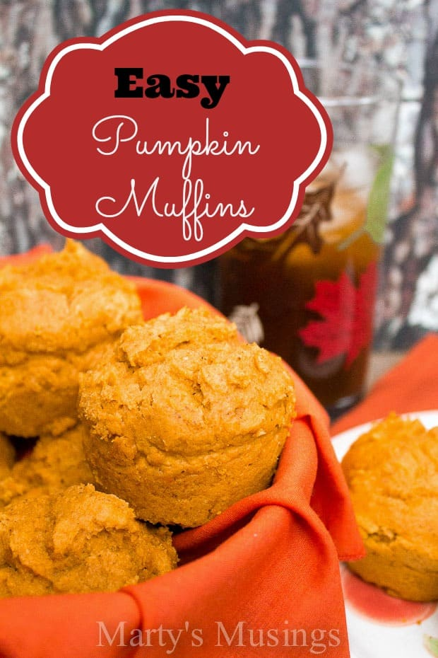 Easy Pumpkin Muffins (with a cake mix)