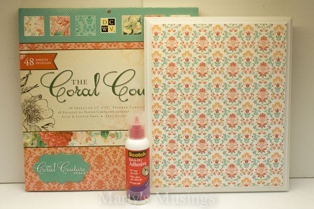 Easy Wall Art with Scrapbook Paper