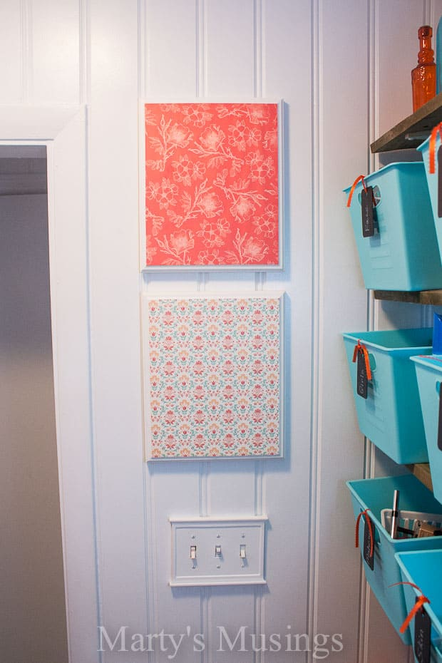 Easy Wall Art With Scrapbook Paper 6