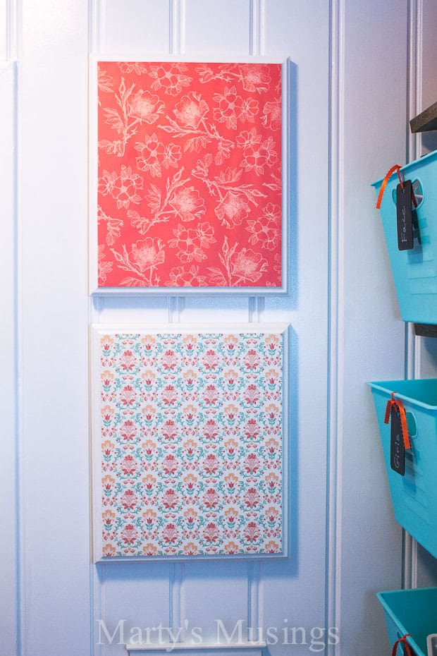 Simple Easy Wall Art with Scrapbook Paper