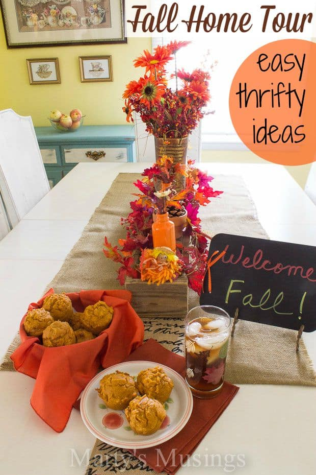 Do you think you have to spend a lot of money and time to create a beautiful fall home? It's not true! These inexpensive and easy fall decorating ideas will inspire you to shop your house, yard sales and thrift stores to DIY and craft your way to a welcoming, enjoyable home.