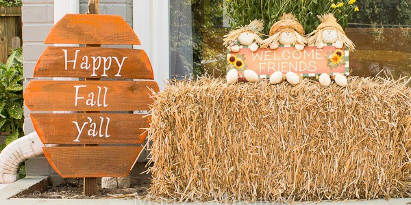 DIY Rustic Fence Board Pumpkins