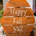Fence Board Pumpkins - Marty's Musings
