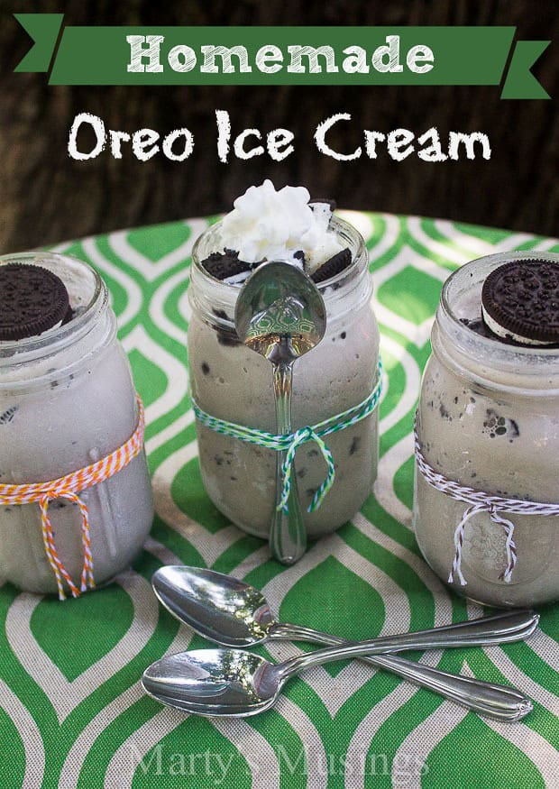 Homemade Oreo Ice Cream