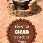 How to Clean a Deck or Patio from Marty's Musings