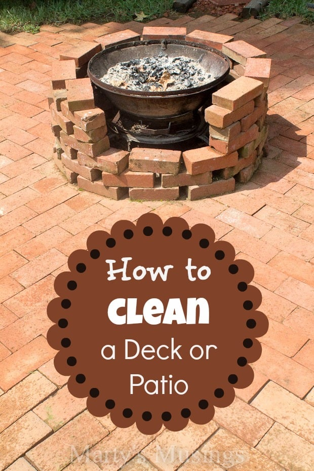 How To Clean A Deck Or Patio From Martyu0027s Musings