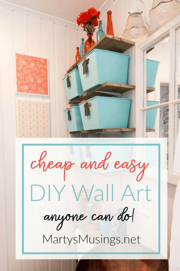 No money or time and believe you're not creative? Think again! This DIY Wall Art is so cheap and easy anyone can do it!