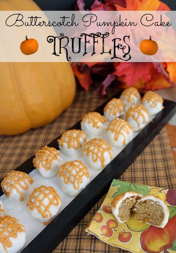 Butterscotch Pumpkin Cake Truffles