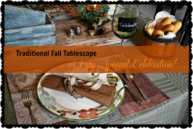 traditional fall place setting