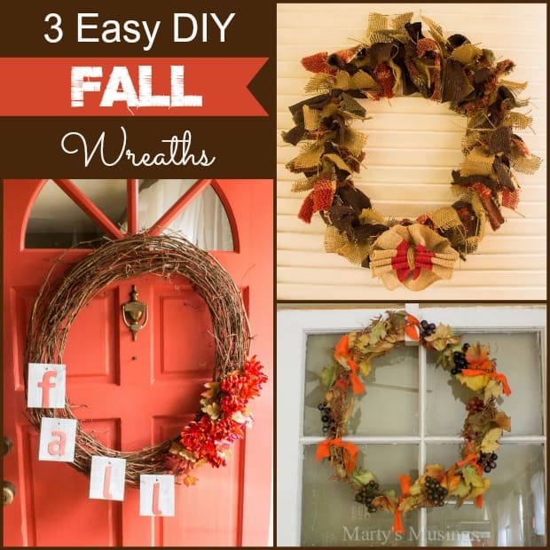 3 Easy DIY Fall Wreaths