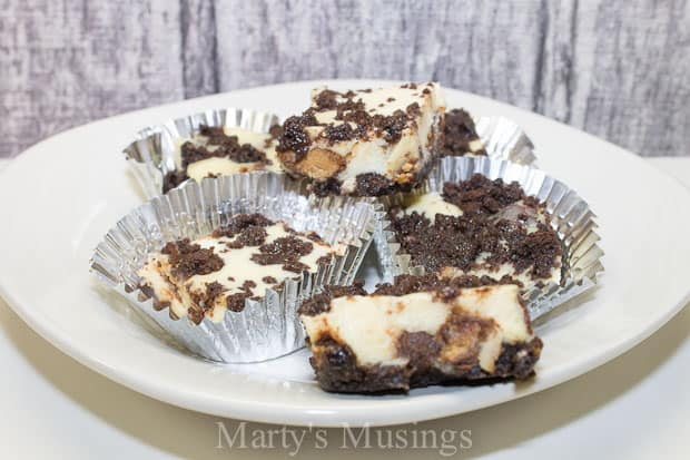 Chocolate Peanut Butter Cup Cheesecake Bars