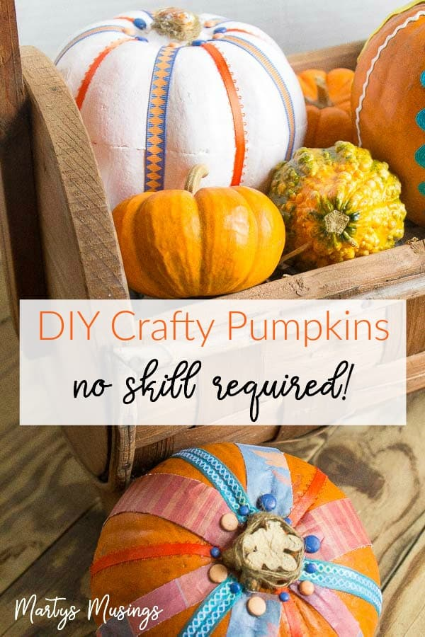 This painted pumpkin craft is perfect for anyone who wants to impress friends and family with their creativity! All you need is either real or fake pumpkins and a few decorative accents.