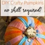 DIY Painted Pumpkin Craft