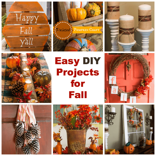 Pinecone door arrangement for Easy diy fall crafts