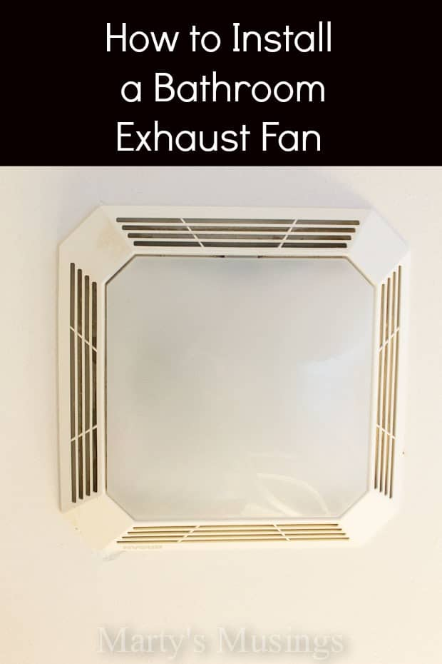 how to install a bathroom exhaust fan