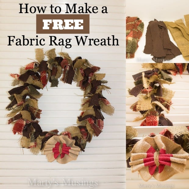 How to Make a Free Fabric Rag Wreath