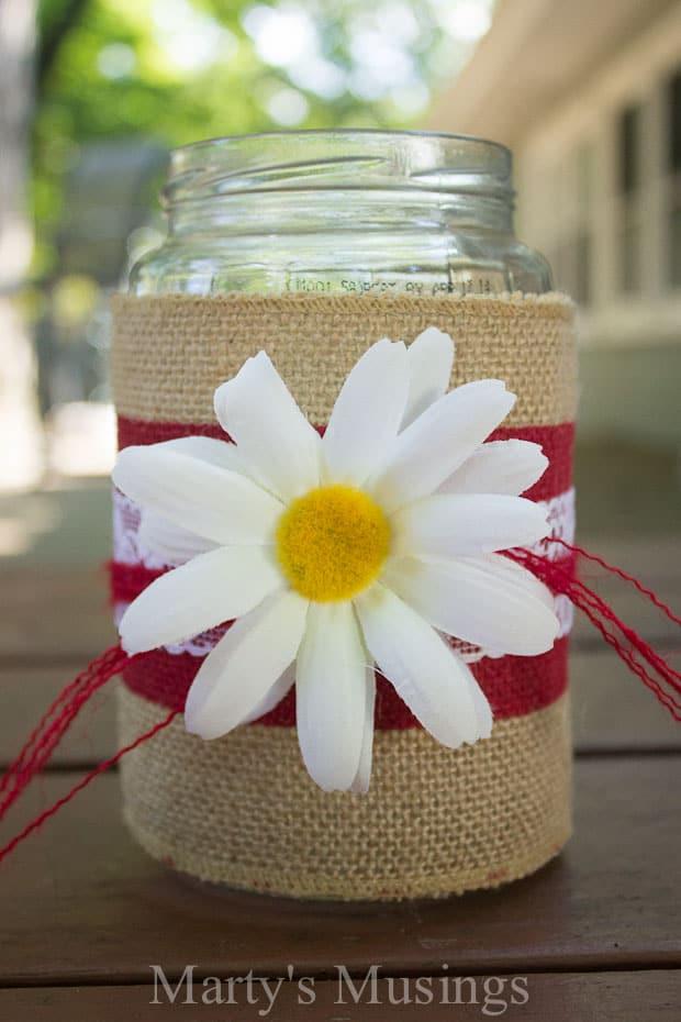 Thrifty Mason Jar Crafts and Google Hangout