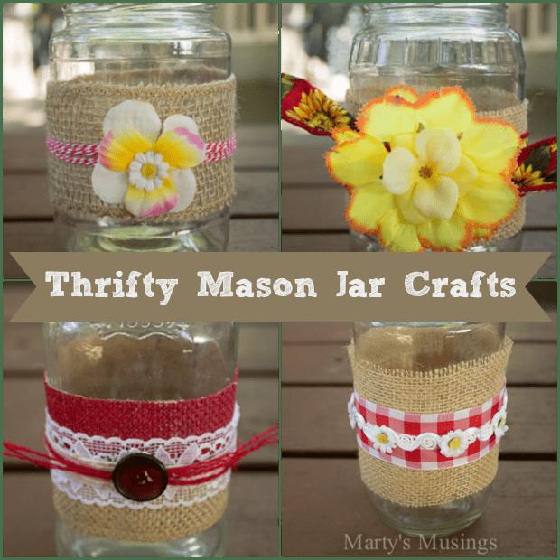 Thrifty Mason Jar Crafts and Video