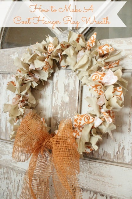 Fabric rag wreath Making wreaths