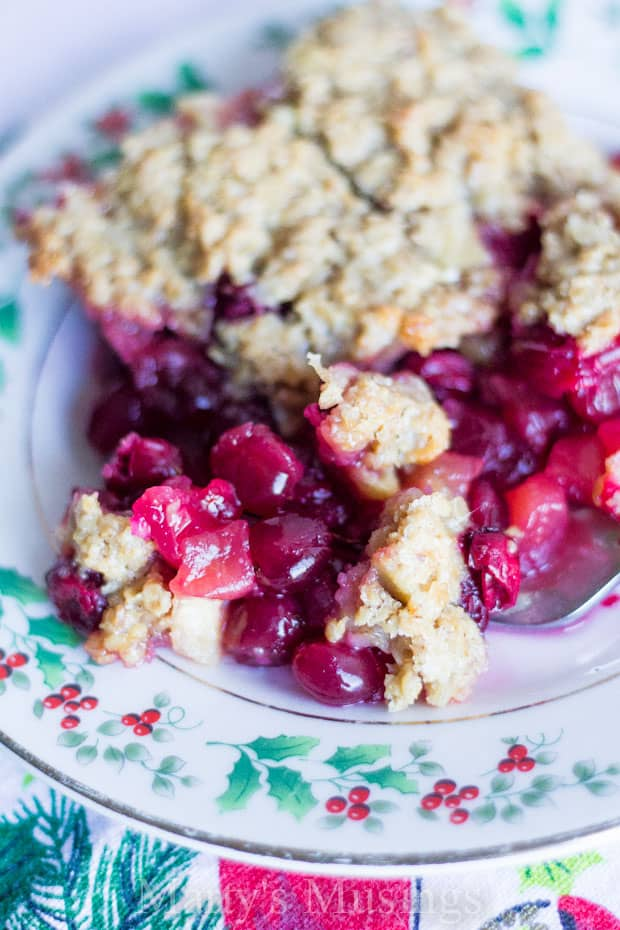 Filled with cranberries and apples this easy family favorite Cranberry Apple Casserole is perfect for holidays, family gatherings and even breakfast!