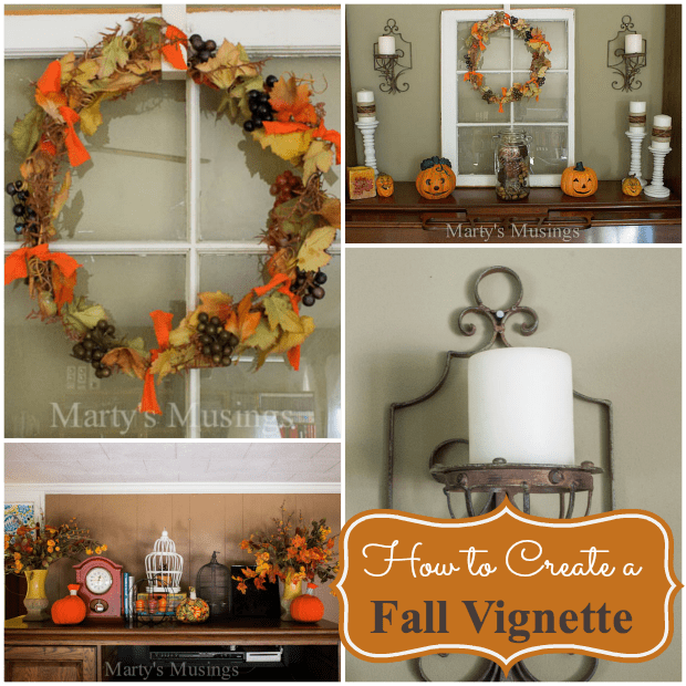 How to Create a Fall Vignette