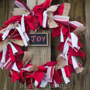 Christmas Rag Wreath and Ornament from Marty's Musings