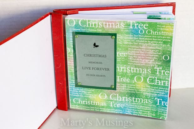 Christmas Ornaments Mini Album from Marty's Musings