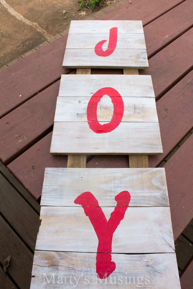 Fence Board Christmas Sign