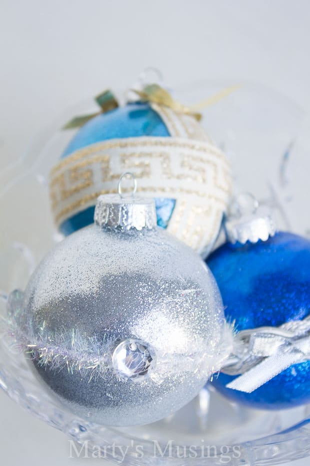 No Mess Handmade Glitter Ornaments